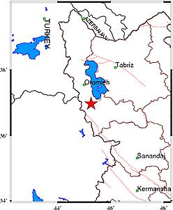 زلزله در نالوس آذربایجان غربی